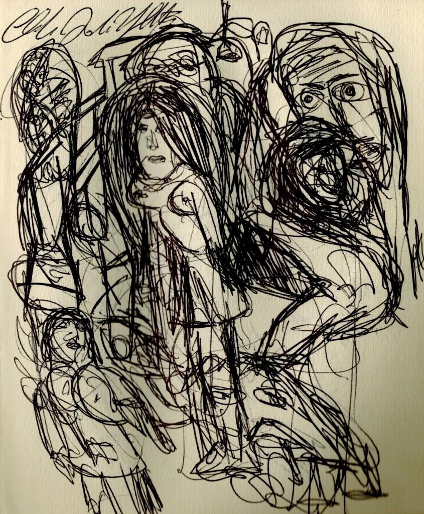 dessin claudio arezzo di trifiletti 2004