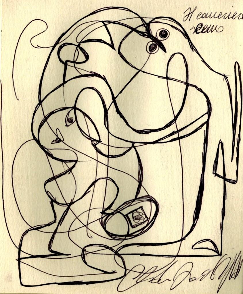 dessin claudio arezzo di trifiletti 2004 art