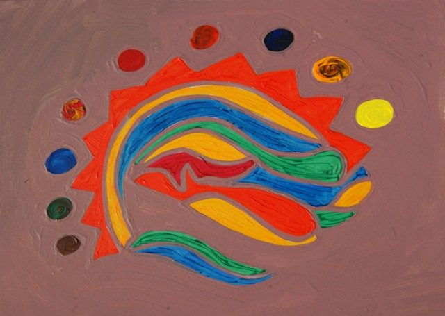 Quando seguo l'istinto, conosco solo quello che sento, scriverlo sarebbe impossibile, per questo dipingo.