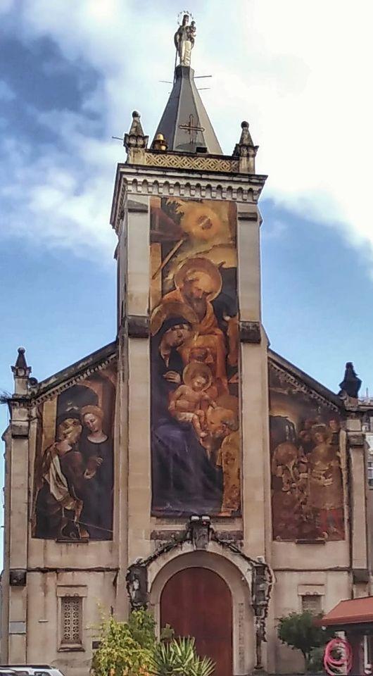 L'enorme peso della sciagura di Erode nell'inizio dell'Avvento. Sia Benedetto il Cuore che Partorisce Salvezza. Pace in Terra. Catania, Chiesa Santa Maria della Guardia (Sicily needs love)