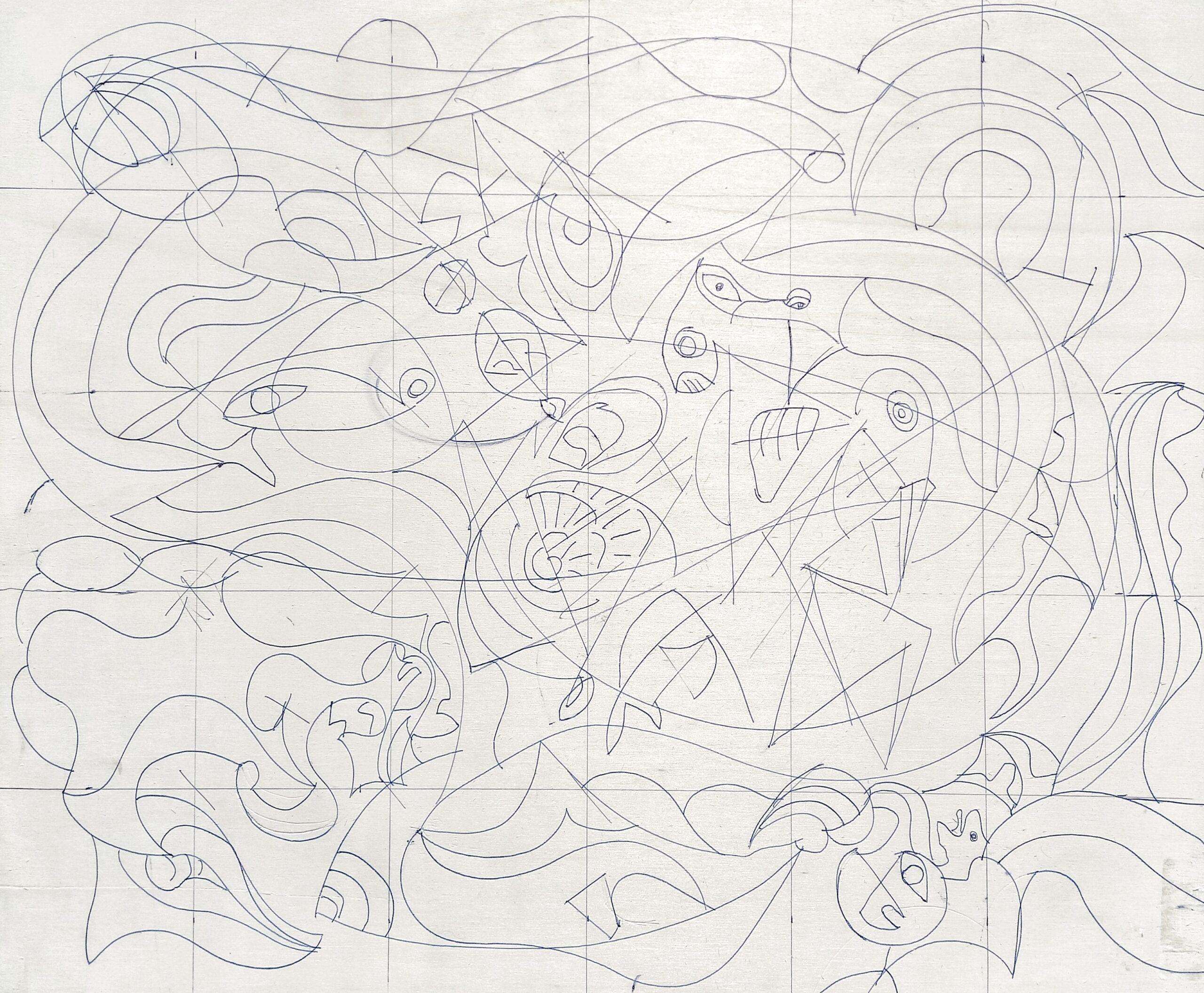 30/10/10 Work in Progress Acrylic 61/51 cm. - Arti Visive Bepart Gallery, Atelier Montez Roma